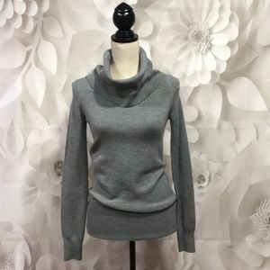 French Connection Gray Cowl Neck Sweater S